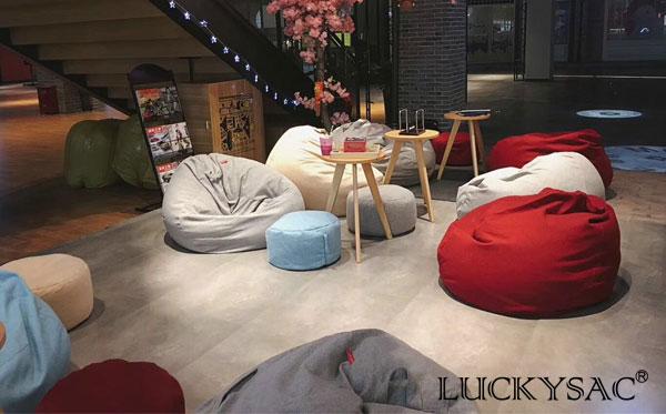 尚都家居研发生产休闲家具懒人沙发再获做茶吧生意客户好评