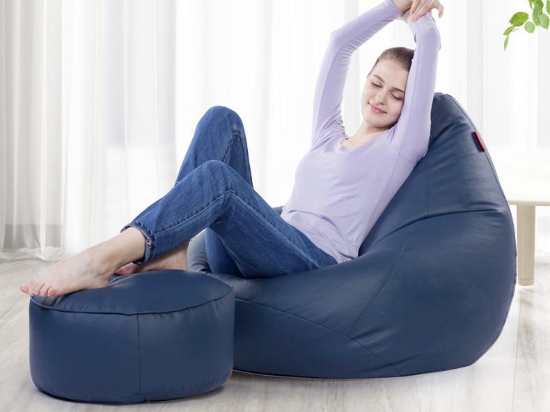 奢华皮革懒人沙发