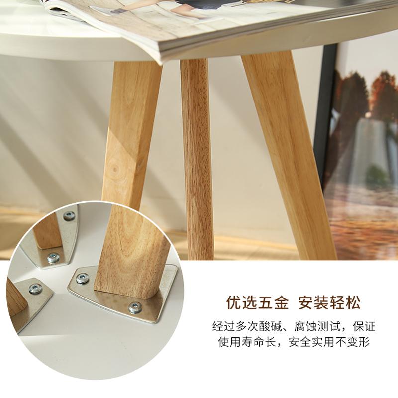 实木高低三角阳台小茶几细节