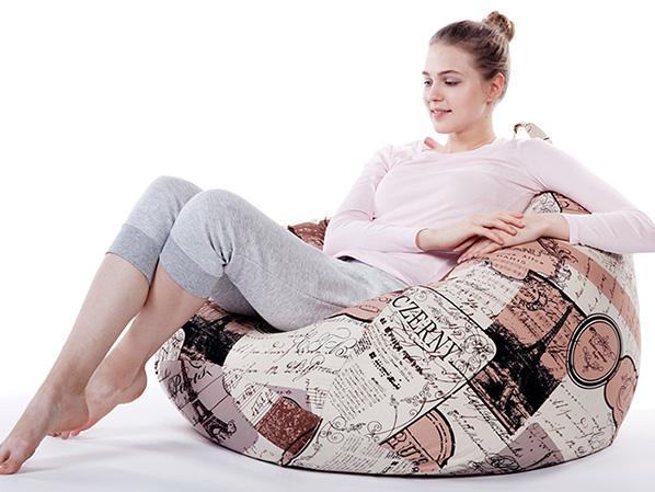 超纤皮花色懒人沙发