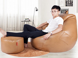 皮革豆袋懒人沙发